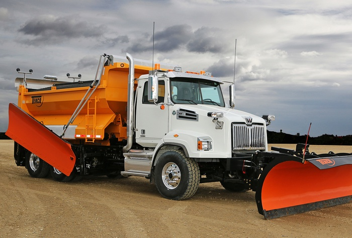 Complete Tenco Snow Plow Truck