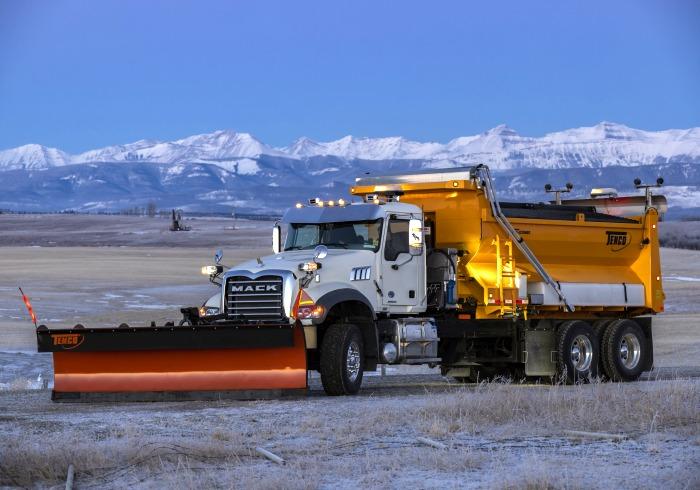 Mack Granite 2021 Truck - Tenco Plow, Spreader and Wing