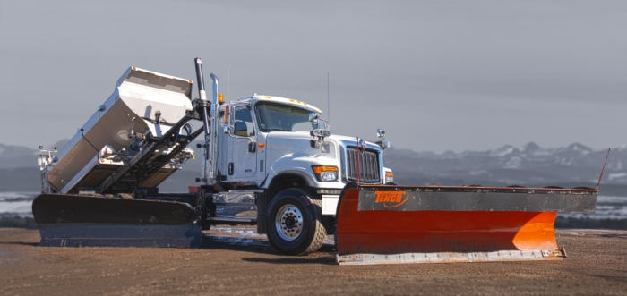 Available turnkey 2021 International truck with winter package w SS XD spreader with Roll Off