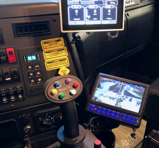 Tenco Wide Wing System multilane clearing solution - controlled by a joystick